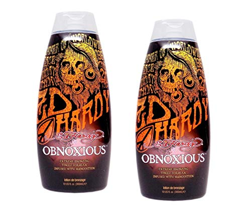 Accelerator Lotion - Lot 2 Ed Hardy Obnoxious Indoor Tanning Lotion Accelerator Bronzer Dark Tan Bed