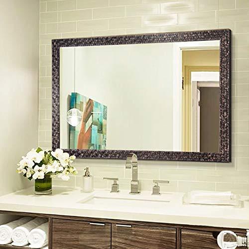 "Bathroom Mirrors for Wall (Black, 38""x26"")"
