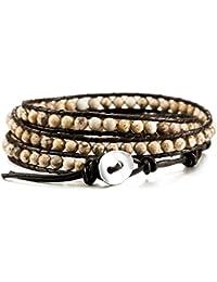 MOWOM Alloy Genuine Leather Bracelet Bangle Cuff Rope...