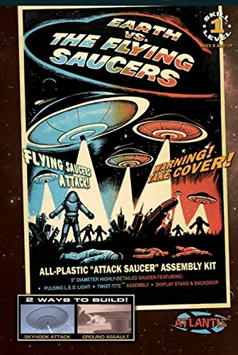Earth vs The Flying Saucers UFO 2nd Edition 5-Inch Model Kit with Light (Plastic Kit Model Ufo)