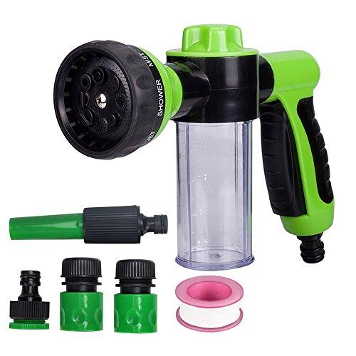 Lanktoo Garden Hose Nozzle Hand Sprayer, Heavy Duty High Pressure Water Sprayer Gun, 8 Adjustable Patterns for Hand Watering Plants & Lawn, Car Washing, Dog
