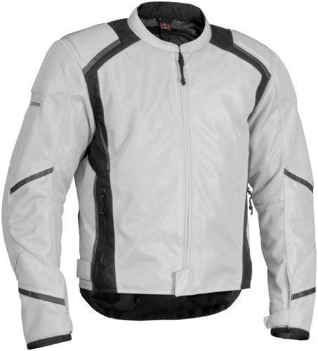 Firstgear Mesh Tex Jacket - X-Large Tall/Silver/Black