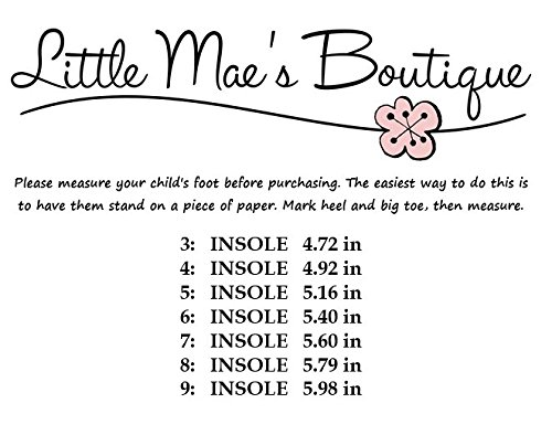Little Mae's Boutique Hot Pink With Crystal Flower Girl Squeaky Sandals Shoes (8) by Little Mae's Boutique (Image #3)