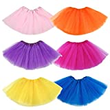 Elesa Miracle 6pc Girls Ballet Tutu Skirt Kids Princess Ballet Dance Party Favor Skirt Value Set