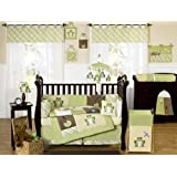 Yellow and Green Leap Frog Baby Boy Girl unisex Bedding 9pc Crib Set by Sweet Jojo Designs
