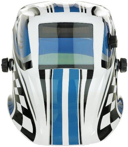 Expert Weld XWH4 9-13 Shades Racer Auto Darkening Welding Helmet Plus Grind...