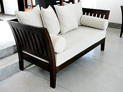 Latest Furniture Sofa Set 3 1 1 In Teak Wood With Cushions