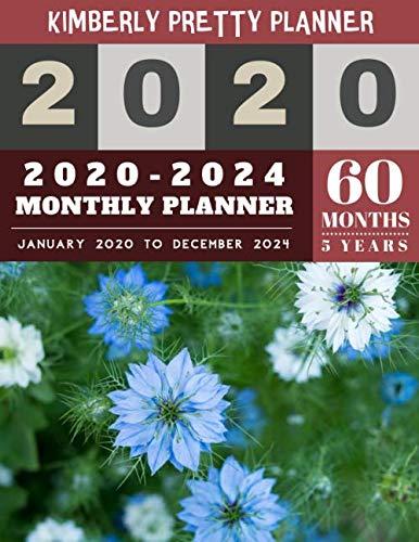 2020-2024 monthly planner: 2020-2024 Five Year Planner   60 Months Calendar, 5 Year Appointment Calendar, Business Planners, Agenda Schedule Organizer ... Design (5 year monthly planner 2020-2024)