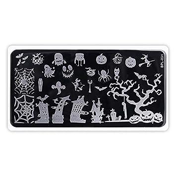 85af2b37ecf79 Macxy - Clavo Que Estampa Las Placas de Animales de Encaje de Flores Arte  del Clavo