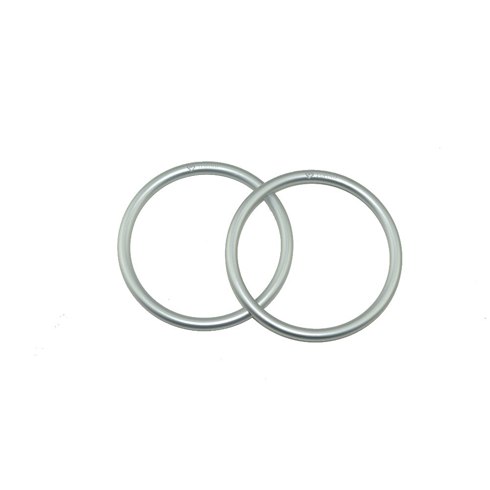 Topind 3'' Large Size Aluminium Baby Sling Rings for Baby Carriers & Slings of 2 pcs (Silver)