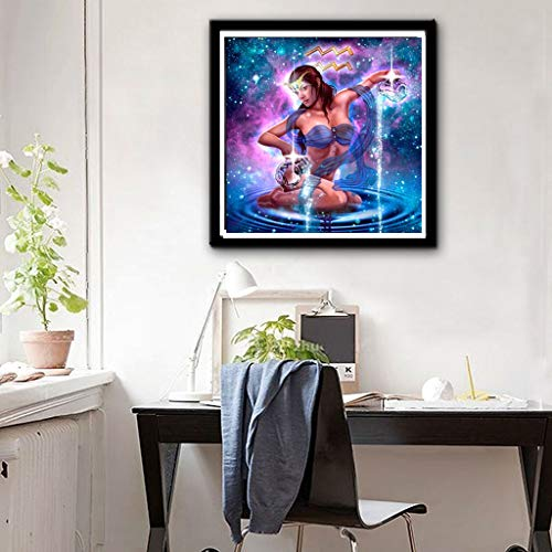 BeautyShe DIY 5D Diamond Painting by Number Kit for Adult, Full Drill Diamond Embroidery Kit Home Wall Decor11.8×11.8 inch]()