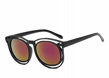mode sonnenbrille runden rahmen Pfeil hohlen sonnenbrille Gesicht - Lift sonnenbrille brille schwarzer rahmen Goldlinse T8Pt6