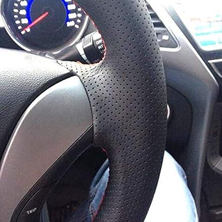 CFHMLK Couvre Volant pour BMW M Sport M3 E90 E91 E92 E93 E81 E82 E88 E88 X1 E84 Resistant A la Main Respirant Antid/érapant Respirant Couvre Volant de Voiture-Fil Jaune