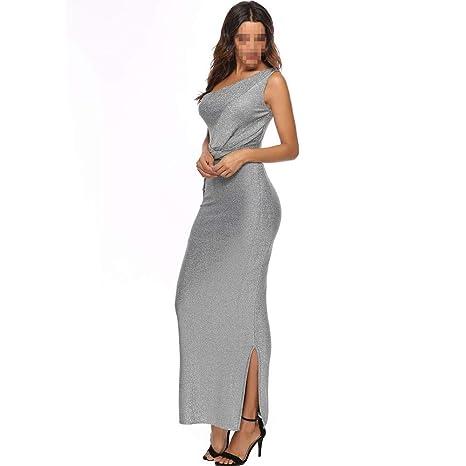 YLDY Vestido de Hombro Atractivo para Mujer, Perspectiva