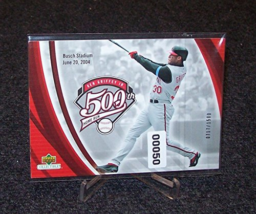 Ken Griffey Jr. 500 Home Run Upper Deck Commem0Rative Card W Serial #'d1500 - 3 1/2 X 5 ()