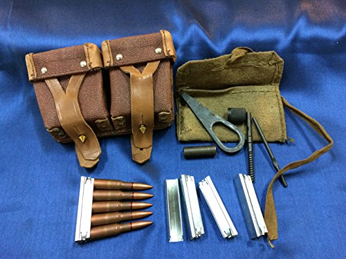 (ESKS Original Mosin Nagant Ammo Pouch, Cleaning Kit, and 5 Stripper Clips)