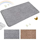 Indoor Doormat Super Absorbent Mud and Water Low-Profile Mats Machine Washable Non Slip Rubber Entrance Rug for Front Door Inside Dirt Trapper Mats Shoes Scraper - Grey, 20' x 31.5'