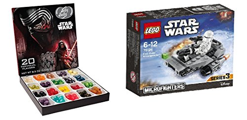 [LEGO Star Wars Microfighters With a Star wars Jelly belly Gift box (75126 - First Order] (C3po Mask)