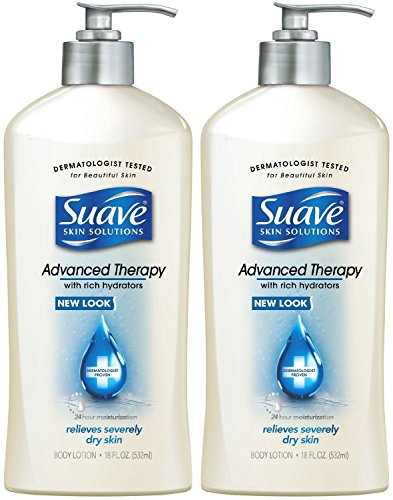 Suave Advanced Therapy Hydrators Skin Lotion Pump, 2 Count (Pump Therapy)