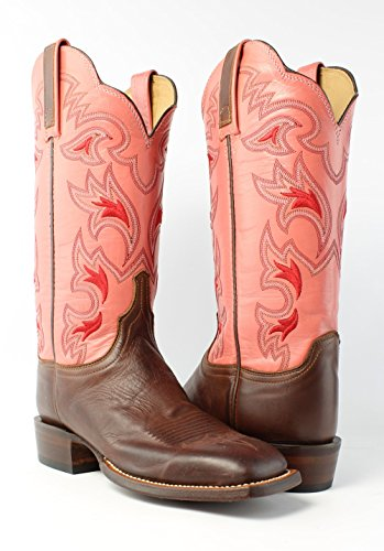 Hand Burnished HY5504 Boots Womens Western Leather Cowboy Ranch Tan Lucchese W8 Yx4pUYn