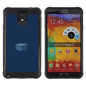 "Pulsar iFace Series Tpu silicona Carcasa Funda Case para SAMSUNG Galaxy Note 3 III / N9000 / N9005 , Pedazo Kids Azul marino"""