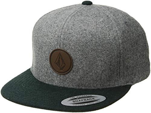 Volcom Men's Quarter Fabric Hat, Dark Pine, ONE Size FITS All