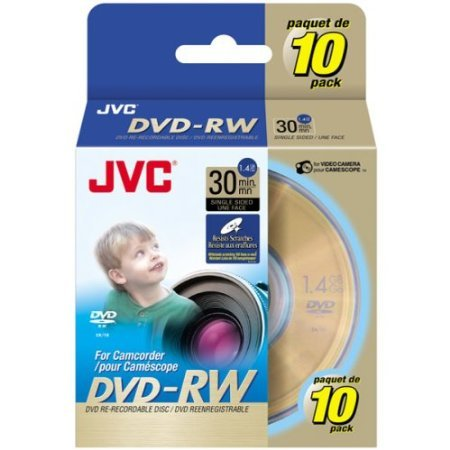 JVC 2x Mini DVD-RW Media (VDW14G10SP) by JVC