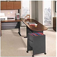 Bush Furniture Series A Left L-Shape Wood Desk Set with Hutch in Hansen Cherry