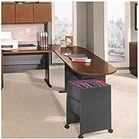 Bush Furniture Series A Left L-Shape Wood Desk Set with Hutch in Hansen Cherry