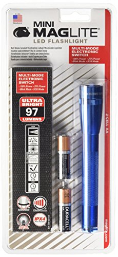 Maglite Mini LED 2-Cell AA Flashlight with Holster, Blue (Blue Mini Flashlight Mag)