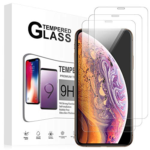 Foval Tempered Glass Screen Protector Compatible for iPhone XR 6.1 Inch 3Pack with Easy Installation(2018)
