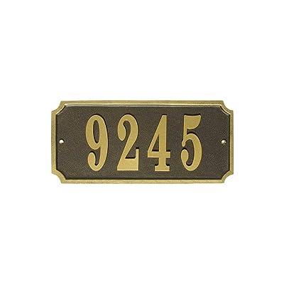 Waterford Address Plaque Color: Bronze : Outdoor Plaques : Garden & Outdoor