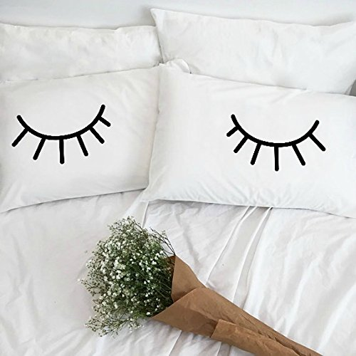 [Set of 2 Eyelash Collection Standard/Queen Pillowcases] (Printed Standard Pillow Case Set)