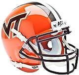 Schutt NCAA Virginia Tech Hokies Collectible Alt 4 Mini Helmet, Orange