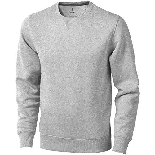 Elevate Mens Surrey Crew Neck Sweater (XXL) (Gray Melange)