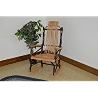 A & L Furniture 2021 Hickory 9-Slat Rocker Chair, Natural Finish