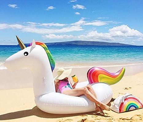 Jasonwell®Inflable Gigante de Unicornio Flotador Piscina Unicornio hinchable colchonetas piscina flotador unicornio piscina para adultos, Juguete para ...