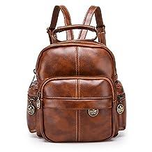 Greeniris Small PU Leather Backpack Purse for Women/Girls