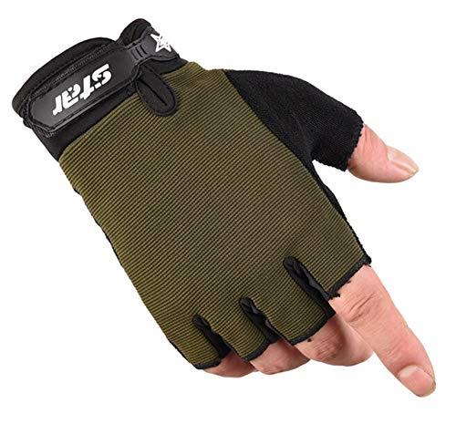 Outdoor Frauen Finger halbe rutschfeste Sport Fr Handschuhe Amdxd MVGqSUzp