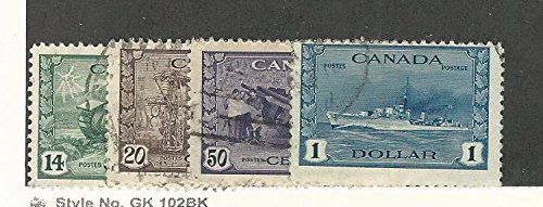 Canada, Postage Stamp, 259-262 Used, 1942-43