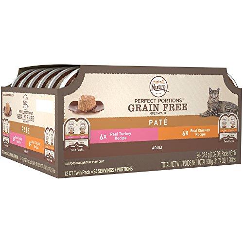 NUTRO Adult Wet Cat Food Pate Multi-Pack Chicken & Turkey 24 Twinpacks