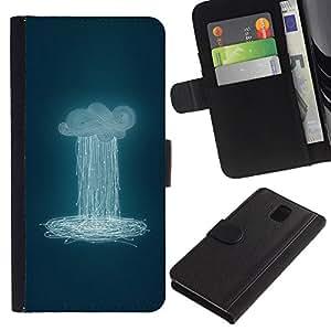 TaiTech / - Nube que llueve Azul Profundo Significado - Samsung Galaxy Note 3 III