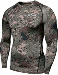 Men's Long Sleeve T-Shirt Baselayer Cool Dry Compression...