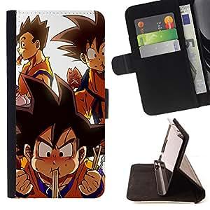 - Cute Dragon Ball Cartoon - - Prima caja de la PU billetera de cuero con ranuras para tarjetas, efectivo desmontable correa para l Funny HouseFOR Samsung Galaxy S6 EDGE