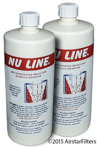 (2)-Pack, AC Line Drainline Buildup Remover Air Conditioner Condensate, 32 ounce bottle