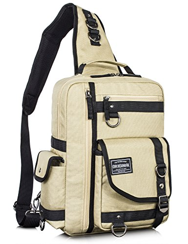 Leaper Messenger Bag Outdoor Cross Body Bag Sling Bag Shoulder Bag Khaki