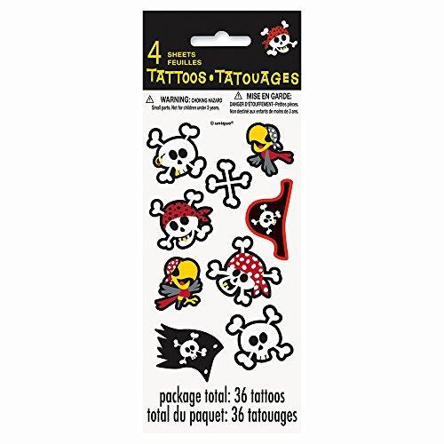 Pirate Party Temporary Tattoo Sheets