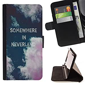 - Somewhere in neverland - - Style PU Leather Case Wallet Flip Stand Flap Closure Cover FOR Sony Xperia Z1 L39 - Devil Case -
