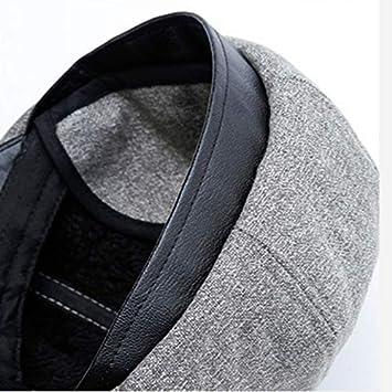 Amazon.com: Best Quality Hah Wool Beret Hat for Old Men Thick Warm Winter Cap Vintage Ivy Flat Cap Casual Cabbie Autumn Visors Peaked Cap Gorras: Kitchen & ...