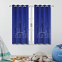 Anjee Castle Themed Blackout Curtains for Kids Room by (2...